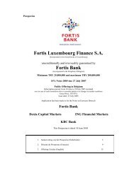 Fortis Luxembourg Finance S.A. Fortis Bank - BNP Paribas Fortis