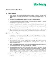 General Terms and Conditions - Lorberg