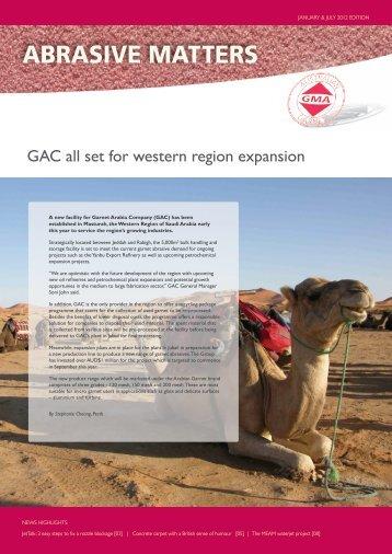 Abrasive Matters January & July 2012 Edition - GMA Garnet