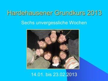 Hardehausener Grundkurs 2013 - Katholische ...