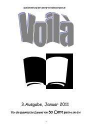 3.Ausgabe, Januar 2011 - Georg-von-Giesche-Schule