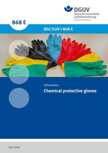 BGI/GUV-I 868 E Chemical protective gloves ...