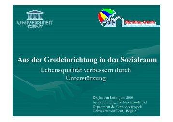 Unterwegs im Sozialraum - Dr. van Loon