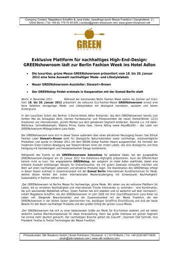 Exklusive Plattform für nachhaltiges High - Ethical Fashion Show ...