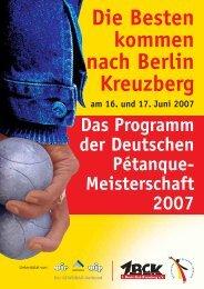 Die Besten kommen nach Berlin Kreuzberg - Boule Club Kreuzberg