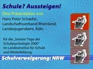 Schulverweigerung: NRW - Landschaftsverband Rheinland