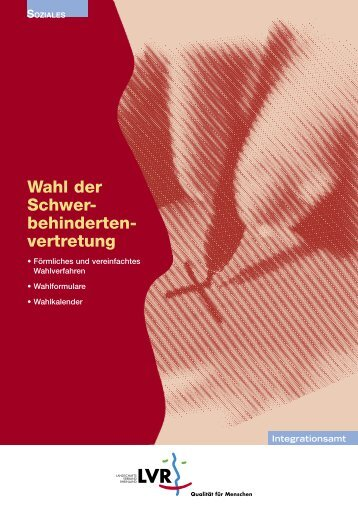 Arbeitsheft Wahl der Schwerbehindertenvertretung, November