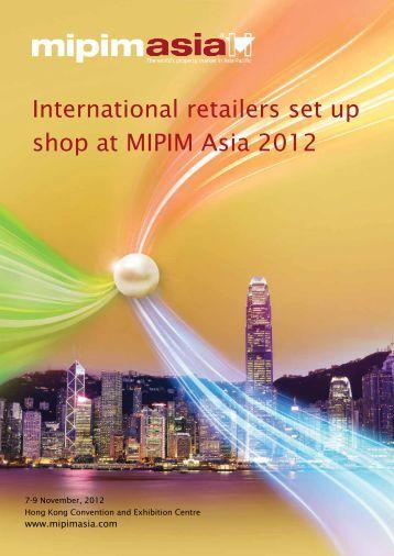 International retailers set up shop at MIPIM Asia 2012