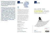 alice im datenland - MHMK Macromedia Hochschule für Medien und ...