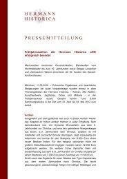 Auktion 64 Ergebnisse - Hermann Historica