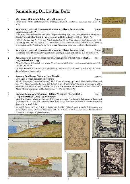 Sammlung Dr. Lothar Bolz - Dresden-kunstauktion.de