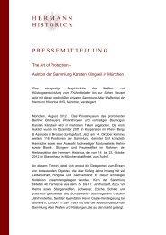 Auktion 65 Ankündigung Sammlung Klingbeil - Hermann Historica
