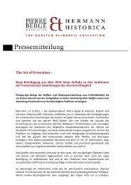 PM KK The Art of Protection Ergebnisse - Hermann Historica