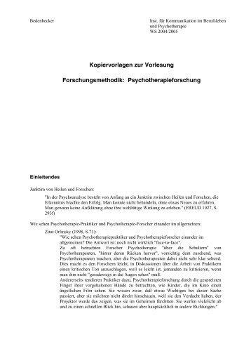 Kopiervorlagen zur Vorlesung ... - Denkprozesse.net