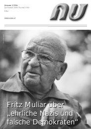 """Fritz Muliar über """"ehrliche Nazis und falsche Demokraten"""" Fritz ... - Nu"""