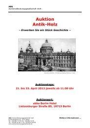 Auktion Antik-Holz - ABG AuktionsBeratungsgesellschaft mbH