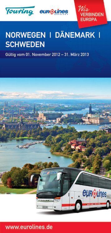 Fahrplan Schweden - Eurolines