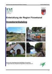 Investorenkatalog 2010 - in der Region Finowkanal
