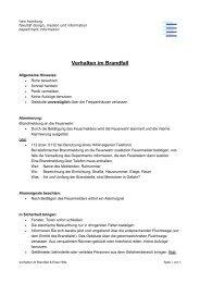 Verhalten im Brandfall - Department Information - HAW Hamburg