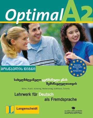 Lehrwerk für Deutsch als Fremdsprache - Ganatleba