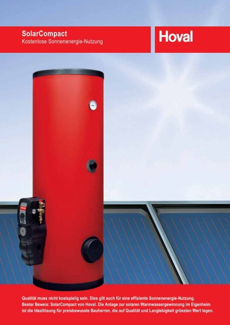 SolarCompact - Hoval Herzog AG