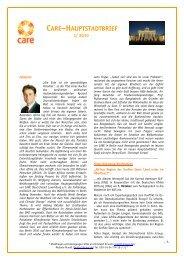 Hauptstadtbrief I/2010 - CARE Deutschland e.V.