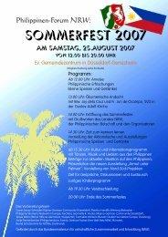 Sommerfest 2007 - Eine Welt Netz NRW