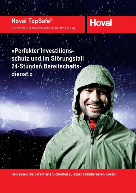 Hoval TopSafe® «Perfekter Investitions- schutz ... - Hoval Herzog AG