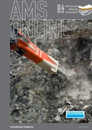 A new face drilling rig for narrow tunnels and ... - Advanced Mining