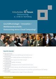 Geschäftsstrategie – Innovation – Wettbewerbsvorteile: Outsourcing ...