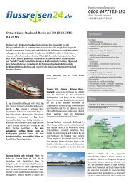 Ostseeträume Stralsund-Berlin mit MS JOHANNES ... - Flussreisen 24