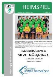 HEIMSPIEL Hallenheft Nr. 1 Saison 2012/2013 - HSG Quelle ...