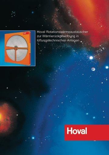 Rotationswärmeaustauscher Planungshandbuch ... - Hoval Herzog AG