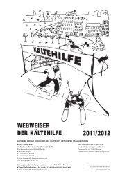 WEGWEISER DER KÄLTEHILFE 2011/2012 - Strassenfeger