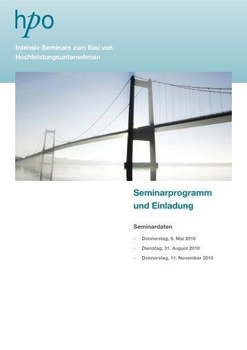 Seminarprogramm und Einladung - HPO