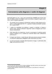 Allegato 4 Convenzione sulle diagnosi ei codici di diagnosi - Hplus