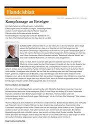 Handelsblatt: Kampfansage an Betrüger - VAN HAM Kunstauktionen