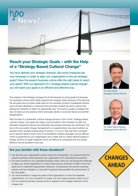 """Reach your Strategic Goals – with the Help of a """"Strategy-Based - HPO"""