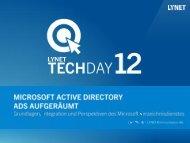 Microsoft Active Directory: ADS aufgeräumt [PDF 3,7 - LyNet