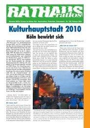 Kulturhauptstadt 2010 - Bündnis 90/Die Grünen Kreisverband Köln