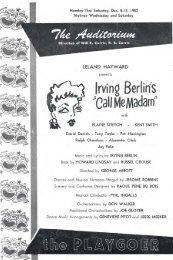 Auditorium Theatre program; Dec. 8 - 13, 1952