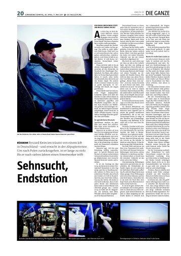 Sehnsucht, Endstation taz Smechowski Emilia - Deutsch-Polnischer ...