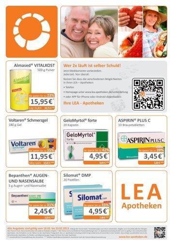 Flyer im PDF Format herunterladen - LEA - Apotheken
