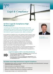 High Performance Legal Compliance - HPO