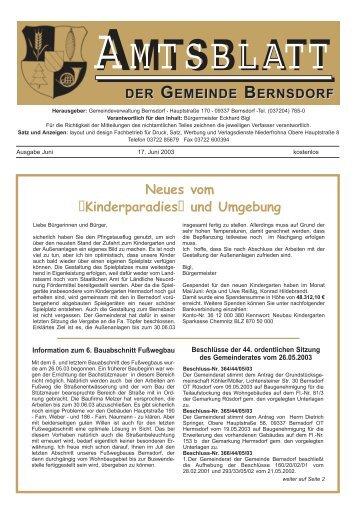 Neues vom Kinderparadies und Umgebung - Bernsdorf im Erzgebirge