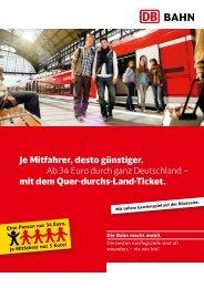 Je Mitfahrer, desto günstiger. Ab 34 Euro durch ganz ... - Bahn.de