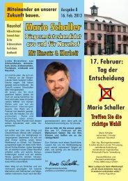 Wahlflyer - Ausgabe 8 - Mario Schaller