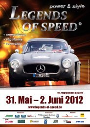 Programmheft von 2012 - Legends Of Speed