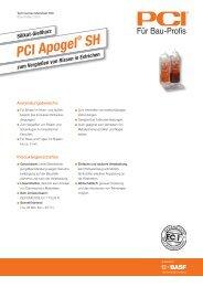 Silikat-Gießharz PCI Apogel ® SH - PCI-Augsburg GmbH