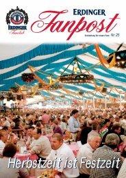 Fanpost Clubzeitung für unsere Fans Nr. 25 - Erdinger